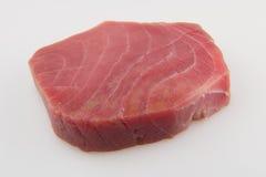 Tuna fish. Tuna raw fish steak on white background Stock Image