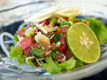Tuna fish salad. In thailand resturant Royalty Free Stock Image