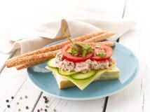 Tuna Fish Salad Sandwich Lizenzfreie Stockfotografie