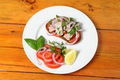 Tuna fish sandwich Stock Photography