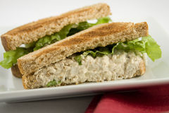 Tuna-fish sandwich. Slided in half Stock Images