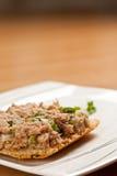 Tuna-fish sandwich. Served on plate Stock Image