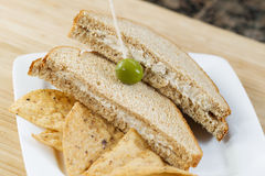 Tuna fish sandwich and Chips Stock Images