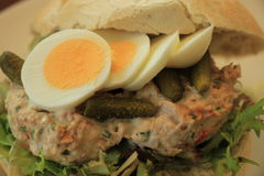 Tuna fish sandwich Royalty Free Stock Images
