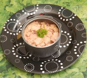 Tuna fish. Some tuna fish with oil in a can Stock Images