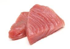 Tuna Fish Steaks crua Fotografia de Stock