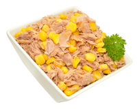 Tuna Fish And Sweet Corn Mixture In Dish Royalty Free Stock Image