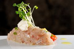 Tuna fish tartare Royalty Free Stock Images