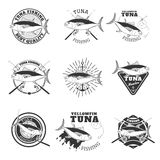 Tuna fishing. Design elements for fishing team emblem. Stock Photography