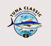 Tuna Fishing Logos Illustrazione di vettore Fotografie Stock
