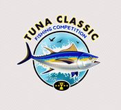 Tuna Fishing Logos Ilustración del vector Fotos de archivo