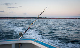 Tuna fishing rod and reel Stock Image