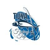 Tuna fishing trip sign for sporting design Stock Photo