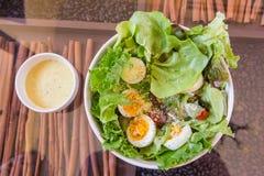 Tuna and fresh vegetable salad with boiled egg Stock Photos