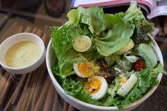 Tuna and fresh vegetable salad with boiled egg Stock Image