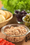 Tuna in Glass Bowl Royalty Free Stock Photos