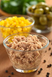 Tuna in Glass Bowl Royalty Free Stock Photo