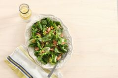 Tuna lettuce salad. On wooden background Stock Photography