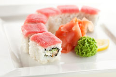 Tuna maki Sushi Royalty Free Stock Image