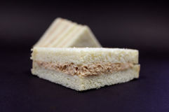 Tuna Mayo Sandwich. A delicious sandwich filled to the brim with delicious fillings - - YUM royalty free stock images