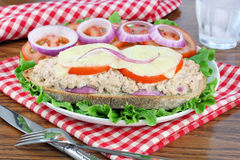 Tuna Melt on Italian Bread Stock Photography