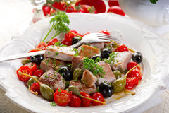 Tuna messinese recipe Stock Photography