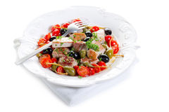 Tuna messinese recipe Royalty Free Stock Images