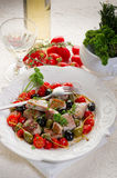 Tuna messinese recipe Stock Photos