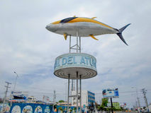 Tuna monument in the port of Manta Stock Photos