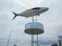 Tuna monument in the port of Manta Royalty Free Stock Photo