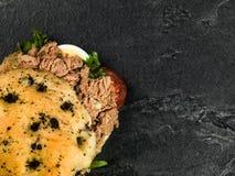 Tuna Nicoise Salad In a Focaccia Bread Bun Royalty Free Stock Images