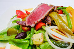 Tuna Nicoise Salad selective focus on tuna Stock Photos
