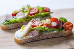 Tuna nicoise sandwich Royalty Free Stock Photography