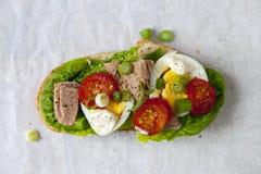 Tuna nicoise sandwich Stock Photography
