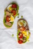 Tuna nicoise sandwich Royalty Free Stock Images