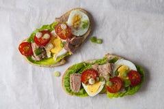 Tuna nicoise sandwich Stock Photos