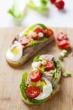Tuna nicoise sandwich Stock Photo