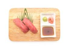 Tuna nigiri sushi - japanese food style Royalty Free Stock Images