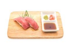 Tuna nigiri sushi - japanese food style Royalty Free Stock Image