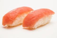 Tuna Nigiri Sushi. Two pieces of tuna nigiri sushi in close-up stock images