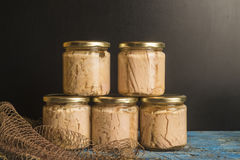 Tuna in olive oil canned jars Stock Image