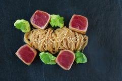Tuna Overhead Shot Fotografia Stock Libera da Diritti