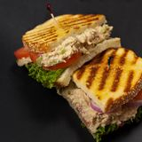 Tuna Panini Sandwich Royalty Free Stock Photos