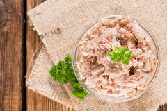 Tuna with parsley stock photos