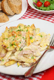 Tuna Pasta Bake. Rigatoni pasta with tuna fish and cheese sauce Stock Photos