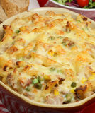 Tuna Pasta Gratin Stock Photo