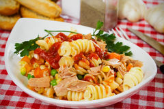 Tuna and pasta salad Royalty Free Stock Images