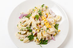 Tuna pasta salad from above Stock Image