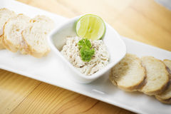 Tuna paste spread with bread Royalty Free Stock Photos