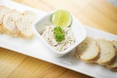 Tuna paste spread with bread Royalty Free Stock Photos